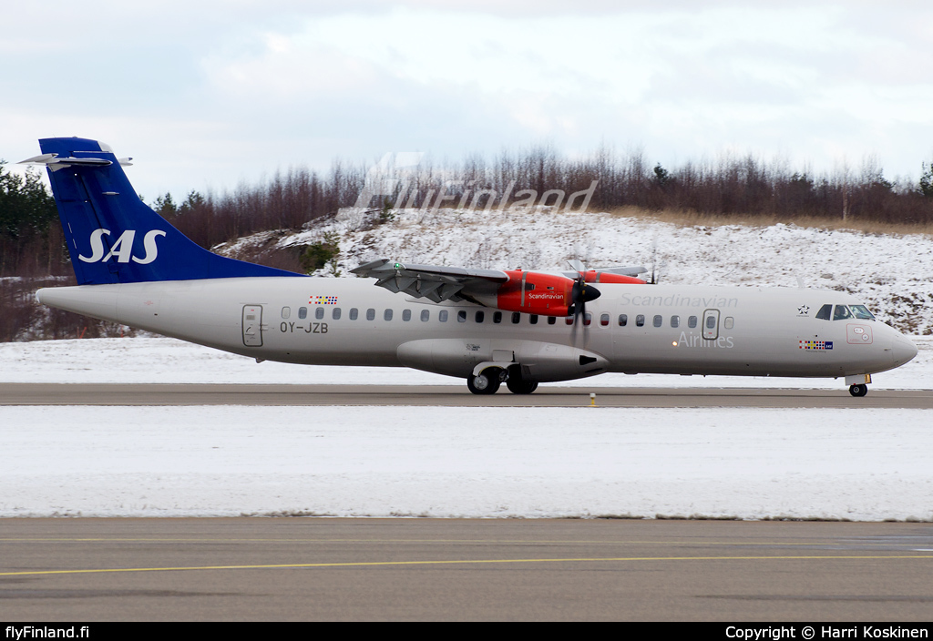 OY-JZB - ATR 72-600 - Scandinavian Airlines - SAS (Jet Time) (16.03.2014) - FlyFinland.fi